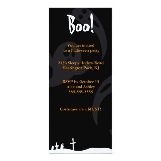 "Ghosts 4"" X 9.25"" Invitation Card"