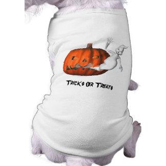 Ghosts Jack O Lantern Halloween Funny Dog Shirt