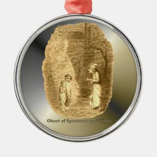 Ghosts of Christmas - A Christmas Carol Round Metal Christmas Ornament