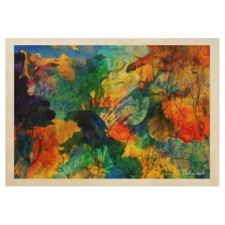 Ghosts Of Grand Cannon Abstract Landscape Wood Poster