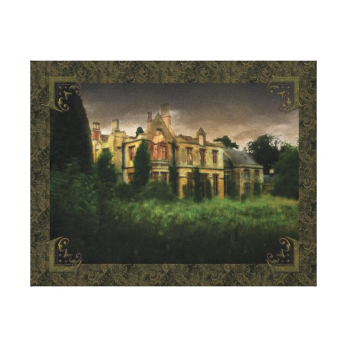 Ghosts Of The Haunted House Canvas Decorative Print
