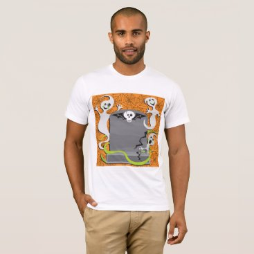 Halloween Themed Ghosts On A Tombstone Mens T-Shirt