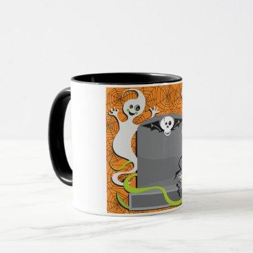Halloween Themed Ghosts On A Tombstone Mug