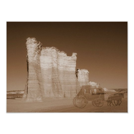 """""""Ghosts On The Butterfield Overland Dispatch Trail Poster"""