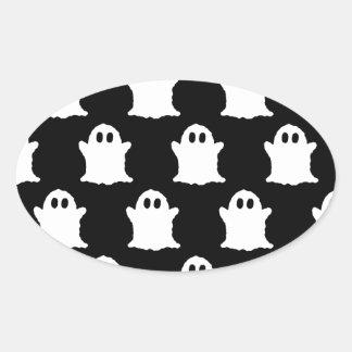 Ghosts Oval Sticker