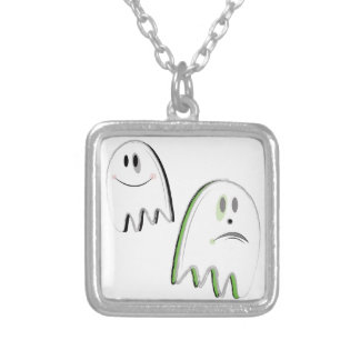 Ghosts Silver Plated Necklace