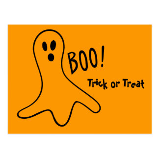 Ghosts that go Boo Postcard