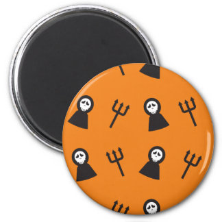 Ghosts tridents pattern Halloween Magnet
