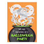 Ghosts & Witches Cauldron Halloween Invitation