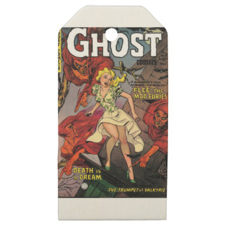 ghosts wooden gift tags