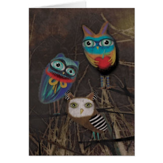 Ghotic Dark Owls Card