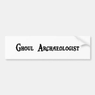 Ghoul Archaeologist Bumper Sticker Car Bumper Sticker