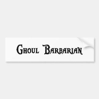Ghoul Barbarian Bumper Sticker