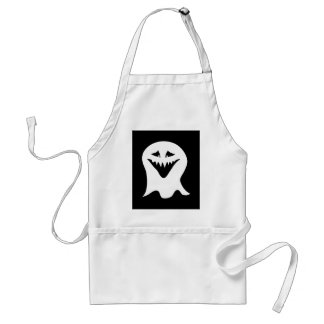 Ghoul. Black and White. Adult Apron