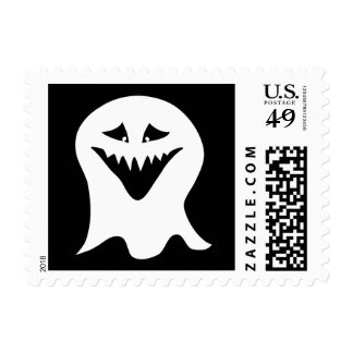 Ghoul. Black and White. Postage Stamps