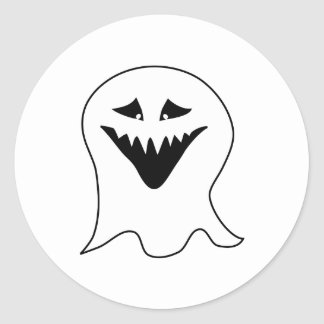 Ghoul. Black and White. Classic Round Sticker