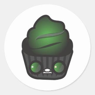 Ghoul Cupcake Classic Round Sticker