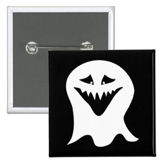 Ghoul Ghost. Black and White. Pin