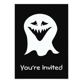 Ghoul Ghost. Black and White. Custom Invitations