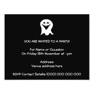 Ghoul Ghost. Black and White. Custom Invite