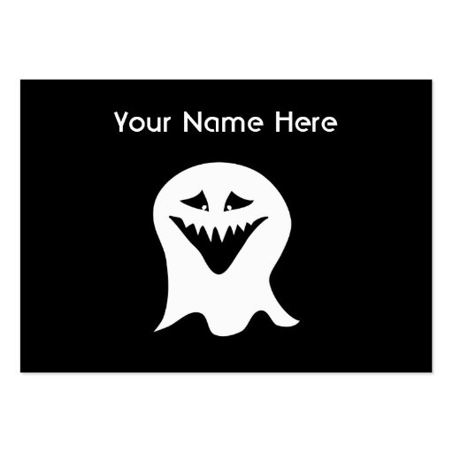 Ghoul Ghost. Black and White. Large Business Cards (Pack Of 100)