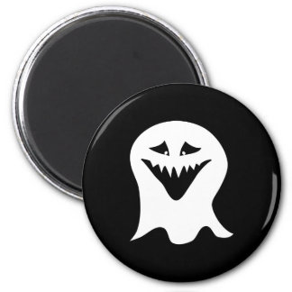 Ghoul Ghost. Black and White. Magnet