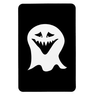 Ghoul Ghost. Black and White. Vinyl Magnet
