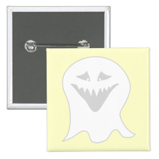 Ghoul Ghost. Gray and White. Pin