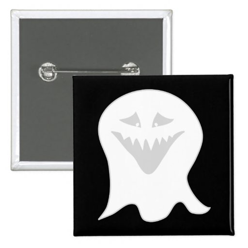 Ghoul Ghost. Gray and White. Buttons