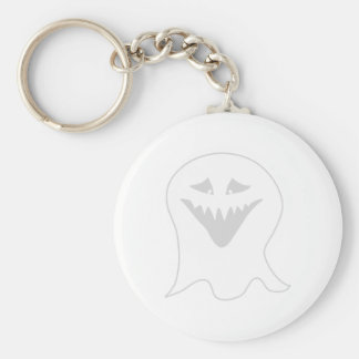Ghoul Ghost. Gray and White. Keychain