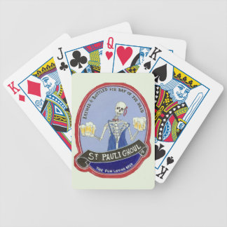 Ghoul Halloween Beer Bicycle Playing Cards