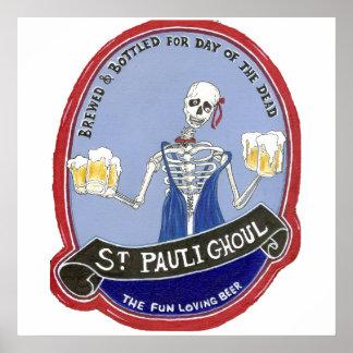 Ghoul Halloween Beer Poster