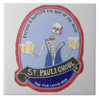Ghoul Halloween Beer Tile