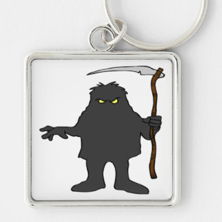 Ghoul Silver-Colored Square Keychain