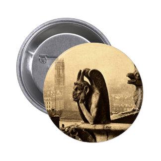 Ghoul Notre Dame, Paris France 1912 Vintage Button