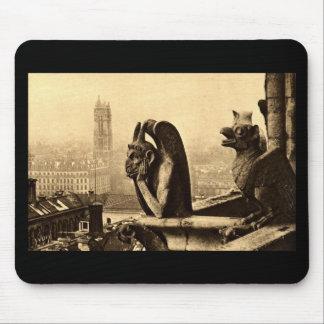 Ghoul Notre Dame, Paris France 1912 Vintage Mouse Pad