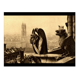 Ghoul Notre Dame, Paris France 1912 Vintage Postcard