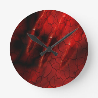 Ghoul red claw scary speck case round clock