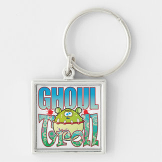Ghoul Troll Silver-Colored Square Keychain