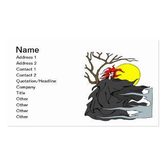 Ghoul Woman Business Card Template