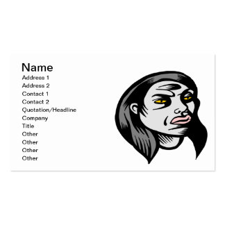 Ghoul Woman Business Card Templates