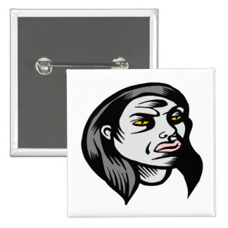 Ghoul Woman Pinback Buttons