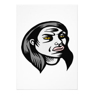 Ghoul Woman Invitations