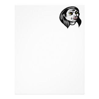 Ghoul Woman Letterhead Design