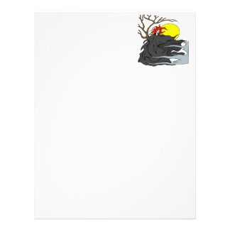 Ghoul Woman Personalized Letterhead