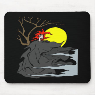 Ghoul Woman Mouse Pad