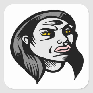 Ghoul Woman Stickers
