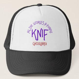 Ghoulardi All The World Is A Purple Knif Trucker Hat