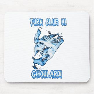Ghoulardi (azul) de la vuelta Mousepad adaptable