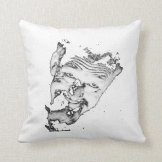 """Ghoulardi (Black/White) 16"""" x 16"""" Throw Pillow"""